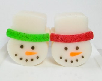 Snowman Soap - Christmas Soap, Soap Favors, Soap for Kids, Dessert Soap, Novelty Soap, Teacher Gifts, Kids Stocking Stuffer