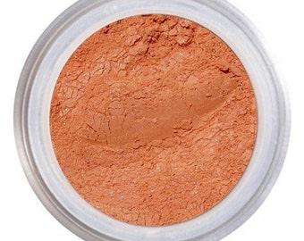 Blush Makeup, GINGER, Pigmented Blush, Loose Mineral Blush, Natural Blush, Golden Apricot Blush, Vegan Cruelty Free, Natural Mineral Makeup