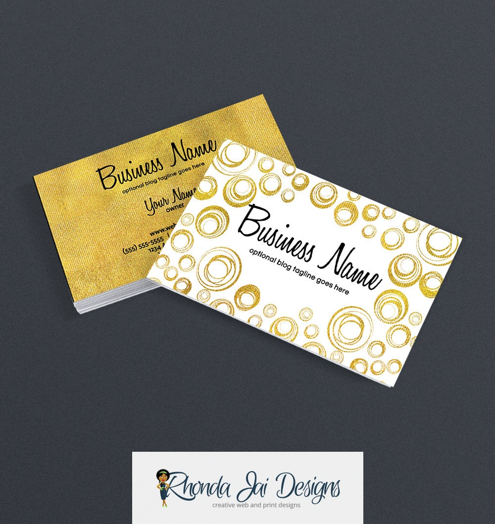 business cards for etsy shop gold business card gold