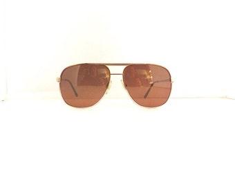 80s Aviator Sunglasses Frames // Unisex Vintage 1980s// Bronze & Silver  Frames //#M240