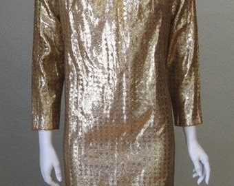 1960s dress. space age glam