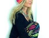 Hot PINK BEANIE Scalloped crochet Cotton Beanie hat for fairies pixies Beach hat Boho Surf Girl womens fashion Summer womens beanie GPyoga