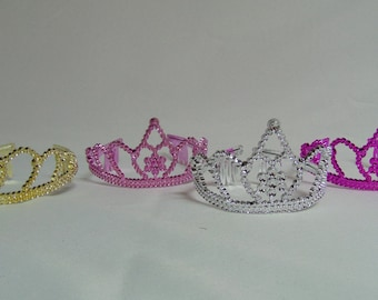 Princess Crowns, Party Favor Crowns, Tiara Party Favors, (Qty of 6)
