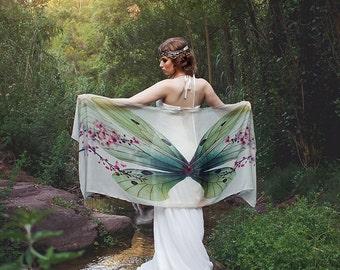 Butterfly scarf wings fairy bohemian monarch dancing foulard