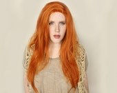 Long Red wig | Lace Front wig | Ginger Long Straight Lace Front wig | Tangerine Sunset