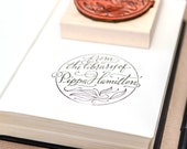 Calligraphy & Pattern Ex Libris Stamp – Custom Made