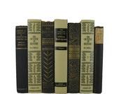 Black Beige Tan   Decorative Book, Vintage Books,  Black White Home Decor. Accent Book, Used Book, Gift for Book Lover, Vintage Home Decor