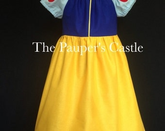 Girls/Child's/Toddler Casual Cotton Pull Over Disney Snow White Princess Dress / Costume