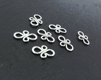 sterling silver connectors, silver findings, silver earring components, earring links, bracelet links, jewelry making, filigree elements