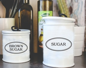 Kitchen Canister Decals, Kitchen Decal, Kitchen Canister Labels, Pantry Decals, Pantry Label, Container Labels, Container Decals, Stickers