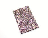 Rainbow Kaleidoscope Passport Cover Glitter Fabric Travel Wallet Holder Cover Case Birthday Gift