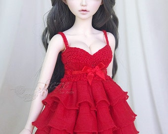 LAST ONE Red ruffle dress for MSD