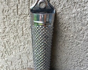 Vintage Nutmeg Aluminum Grater Small Metal Kitchen Tool - #A1614