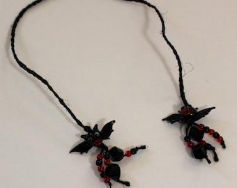 Braided Hemp Bookmark - Sparkle and Bats