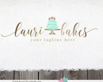 cake logo bakery logo wedding cake logo bake shop logo baker logo