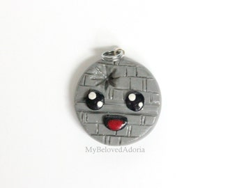Kawaii Death Star- Star Wars Stitch Marker Pendant/Charm/Key chain/Zipper pull- READY TO SHIP