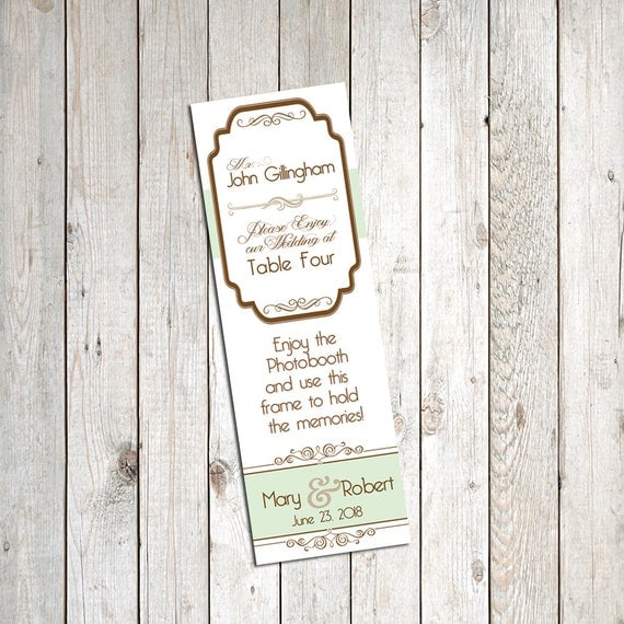 30 Personalized Escort Cards for Photo Booth Frames, Fancy Victorian ...