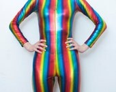 Rainbow Lycra Jumpsuit made by Casio Ono