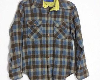 Plaid Virgin Wool Shirt