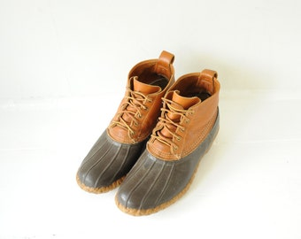 Vintage L.L. Bean High Ankle Duck Boots made in USA mens 11