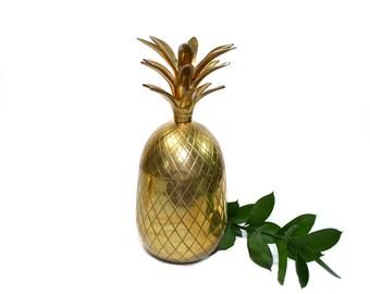 Pineapple Bar Brass Pineapple LARGE Brass Pineapple Boho Chic Pineapple Boho Home Decor