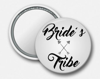 Bride Tribe, Bride Tribe Mirrors, Team Bride Mirrors, Pocket Mirrors, Custom Mirrors, Bachelorette favors, Bachelorette Party, Bridal Party