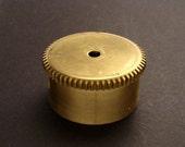 Large Brass Cylinder Gear, Mainspring Barrel from Vintage Clock Movement, Vintage Clockwork Mechanism Parts, Steampunk Art Supplies 03863