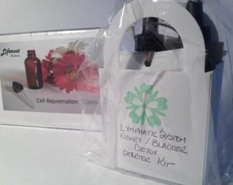 NEW - Organic Herbal Detox Kit - Lymphatic System & Kidney/Bladder ( 2 btls - 1 ounce ea.)