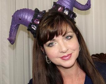 AMYTHIRST Purple Sparkle Horns Demon Devil Horns