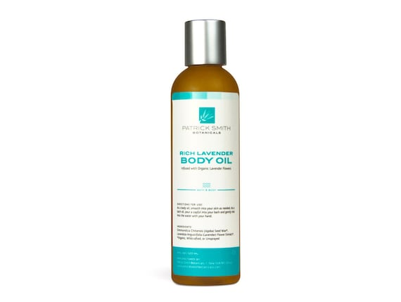 Rich Lavender Body Oil - 4 oz. Organic Ingredients. Cruelty-Free Skincare certified by Leaping Bunny.