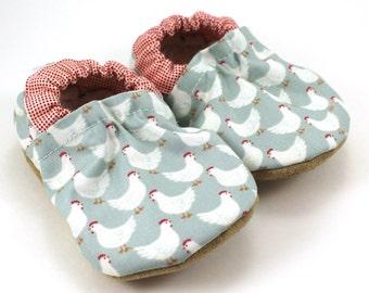 baby chicken shoes chicken clothing baby booties baby boy shoes baby girl shoes soft sole shoes vegan baby farm chicken booties farm animals