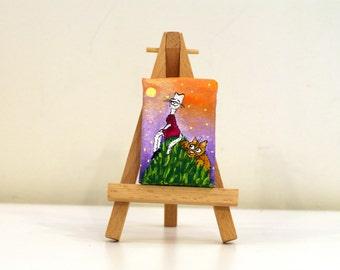 Small canvas art  Small art Quadri canvas painting Small painting on canvas Tiny painting small Tiny canvas art Love painting Acrylic canvas