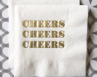 BN1203 - cheers beverage napkin, 40 ct