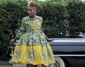 B  A D  I L I Collection: Exclusive The Li Li Afro Belle Dress Made from  Dutch African Wax - African Clothing