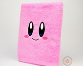Kirby Inspired - Embroidered Bath Towel