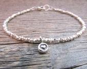 silver heart bracelet, silver bead bracelet, hill tribe silver bracelet, hill tribe bracelet, valentine bracelet, valentine gift