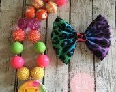Lisa Frank Kitten Bubblegum Necklace Set, Toddler Necklace