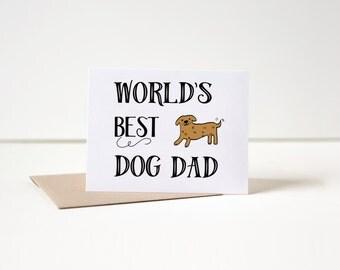 Dog Father's Day Card, Dog Dad Card, Dog Card