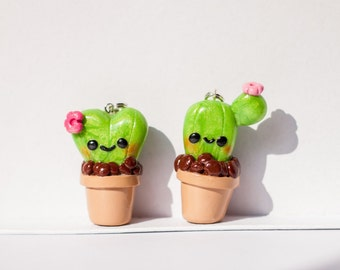 Cactus Friends Kawaii Charm Polymer Clay
