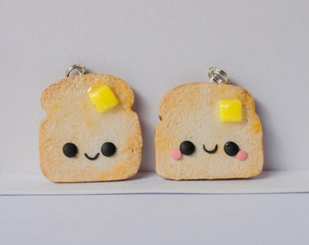 Toast with Butter Kawaii Charm Polymer Clay