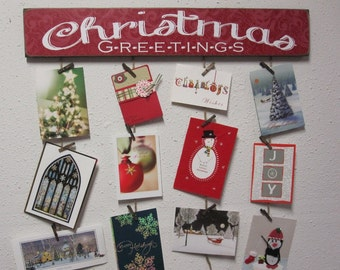 Merry Mail - Merry Mail Card holder - Christmas Card Holder - Christmas Greetings Card Holder - Card Hanger