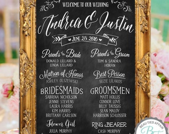 Wedding Program Chalkboard Sign • Wedding Program Sign • Printable Wedding Program • Wedding Program of Events • Program Chalkboard Sign