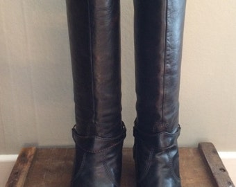 Vintage 1976 Ottornio Bossi Women's Leather Riding Boots 10