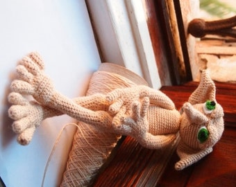 Knitting Pattern For Dobby The House Elf : Sybil, A Faerie Mother and her child, PDF Template Sewing ...