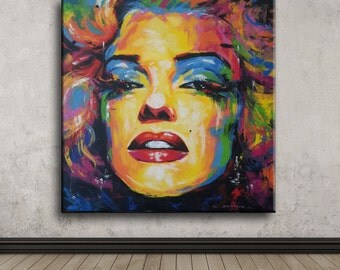 Colorful of Marilyn Monroe 67×67 cm