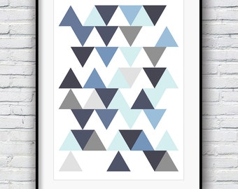 Poster, Geometric Print, Geometric Art, Minimalist, Office Decor, Modern Art Print, Contemporary Art