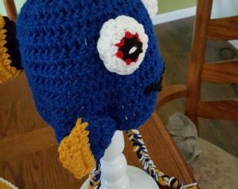 Baby Dory Crochet Hat