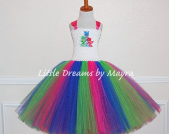 PJ Masks inspired tutu dress, PJ Masks birthday party inspired outfit size nb to 14years