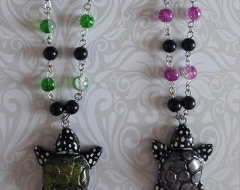 Gothic turtle necklace