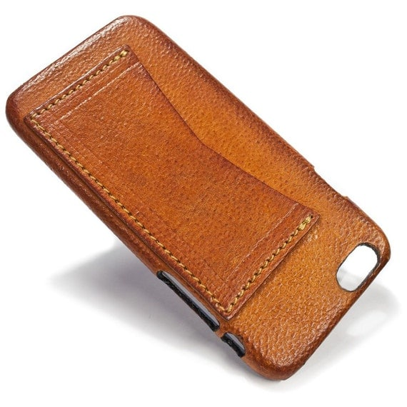 "NEW iPhone 8 or 7  display 4.7"" Leather Case with 1 credit card holder horizontal Slot choose the color of BODY and ACCENT"